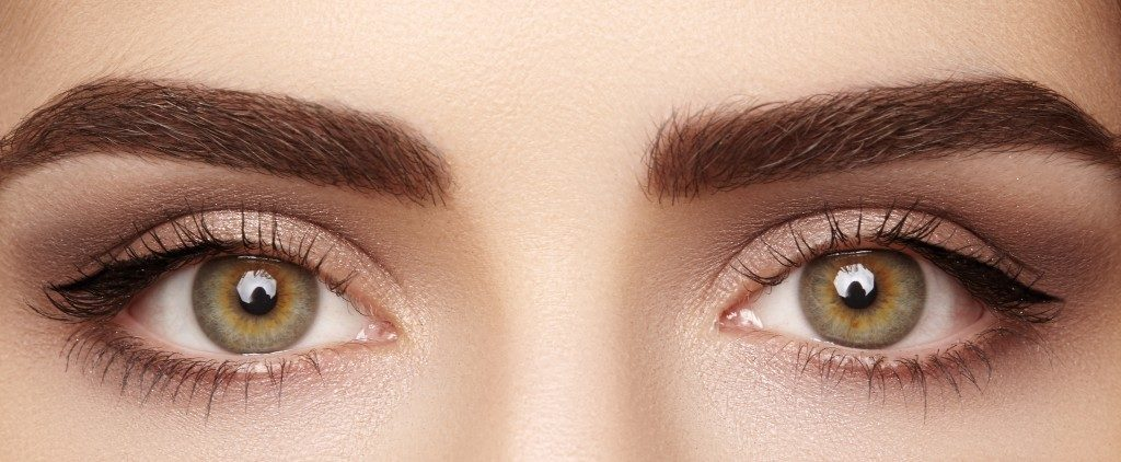 close up photo of woman's eyes and eyebrows