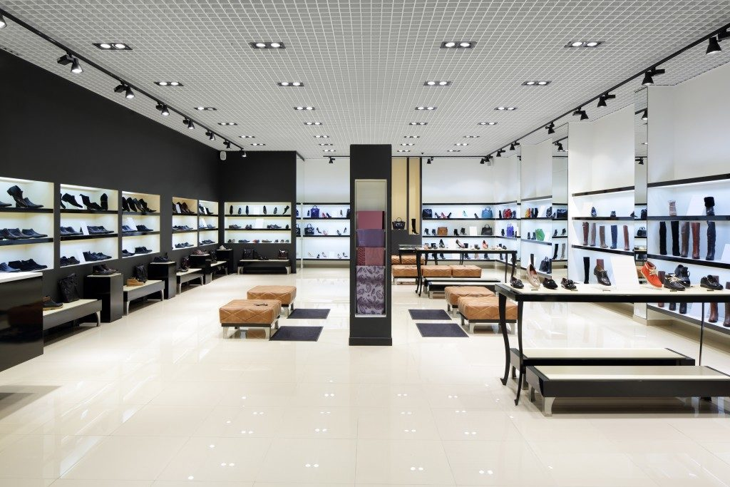 Shoe store interioir