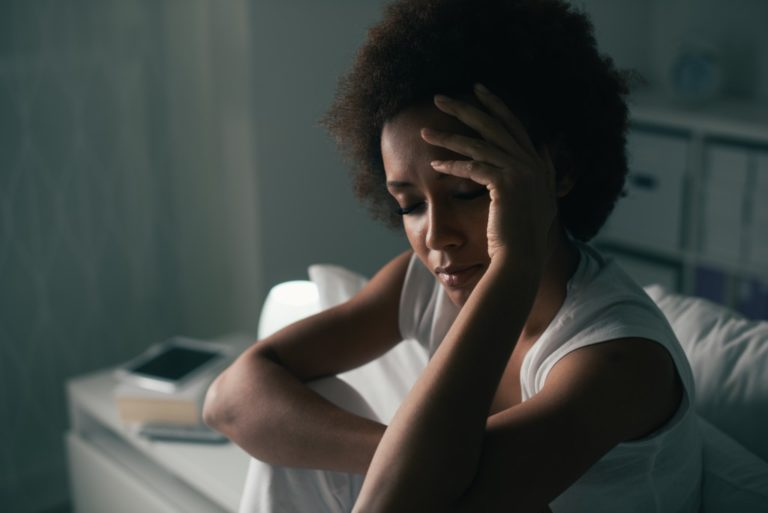 woman suffering from sleep deprivation